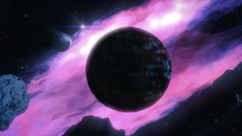 Dark Planet Stock Video Footage