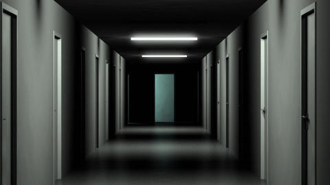 Dark Hallway Stock Video Footage