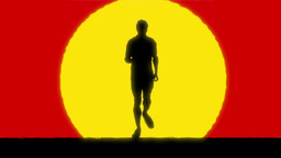 Runner stock footage