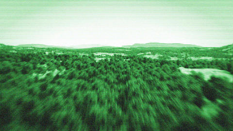 Nightvision Flight stock footage