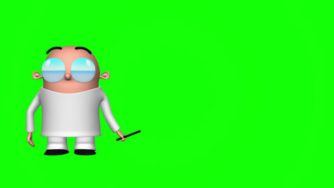Funny Scientist (Green Screen) Stock Video Footage
