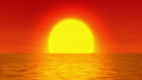 Sunrise over the ocean Animation