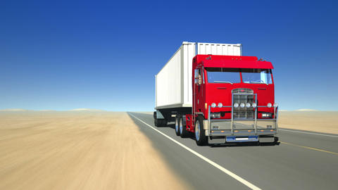 Truck on the road 1 (Loop) Animation