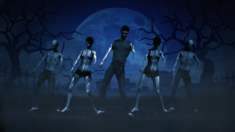 Dancing Zombies stock footage