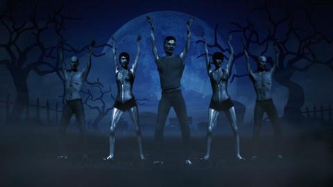 Dancing Zombies Stock Video Footage