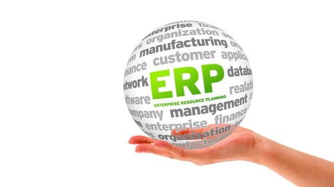 Enterprise Resource Planning Word Sphere Stock Video Footage