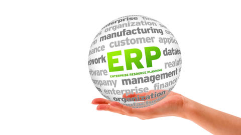 Enterprise Resource Planning Word Sphere Animation