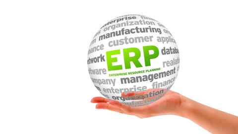 Enterprise Resource Planning Word Sphere Stock Video Footage