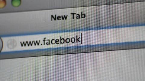 Facebook 3 SHOTS Stock Video Footage