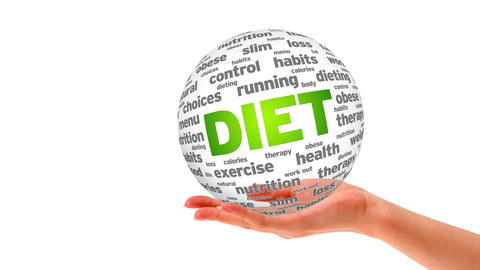 Diet Word Sphere Stock Video Footage