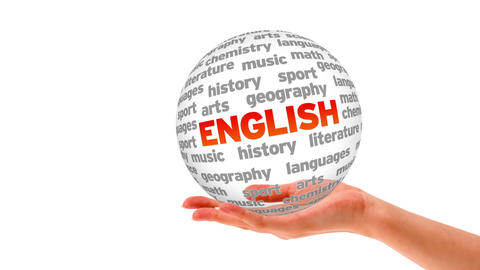 English word sphere Stock Video Footage