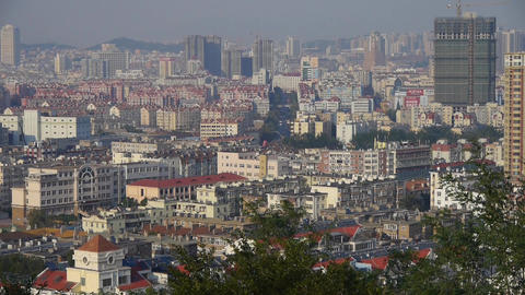 Crowded city building Animation