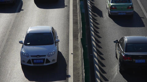 traffic on overpass,traffic jam timelapse Stock Video Footage