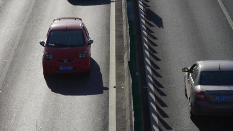 traffic on overpass,traffic jam timelapse Stock Video Footage