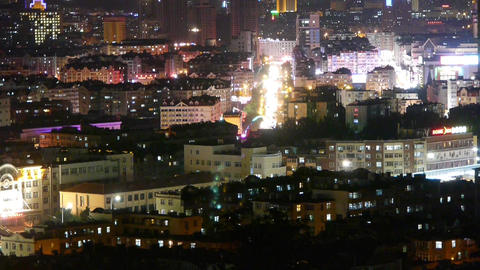 night urban scenes & night neon Stock Video Footage