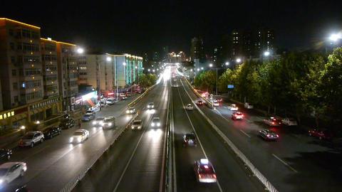 timelapse traffic jam at night Stock Video Footage
