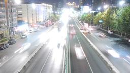 timelapse urban traffic at night Animation