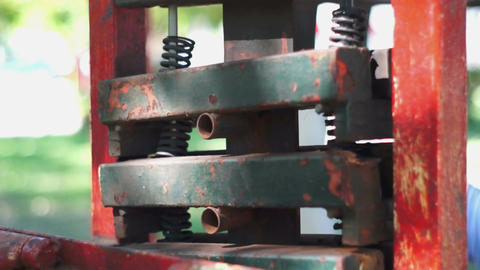 Antique Workout Machine Dolly Stock Video Footage