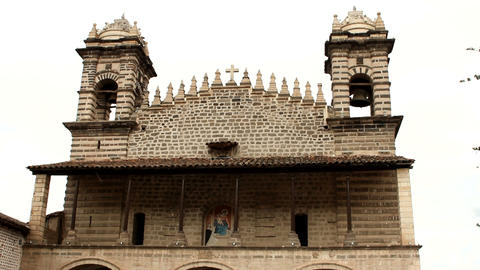 Church in Ayacucho Stock Video Footage