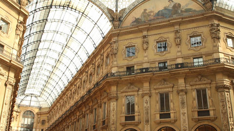 Galleria Vittorio Emanuele in Milan Footage