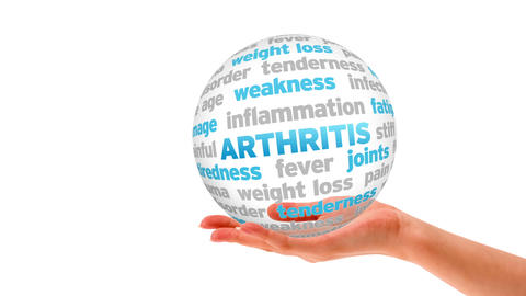 Arthritis word Sphere Stock Video Footage