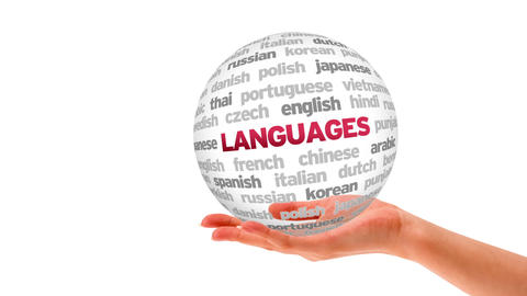 Languages Word Sphere Stock Video Footage