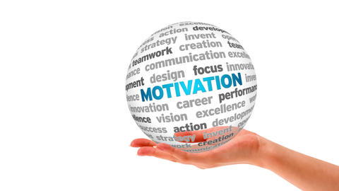 Motivation Word Sphere Stock Video Footage