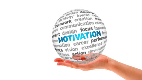 Motivation Word Sphere stock footage