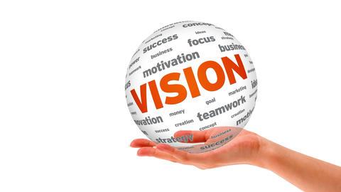 Vision word Sphere Stock Video Footage