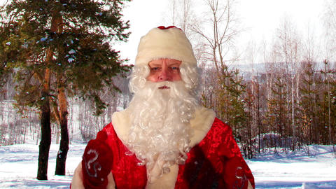 Close-up of Santa Claus with Christmas wishes Stock Video Footage