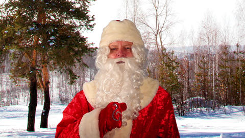 Close-up of Santa Claus with Christmas wishes Footage