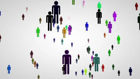 3 D Network Connections Overpopulation Cocncept 4 Animation