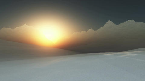 4 K Antarctica 1 sunset Stock Video Footage