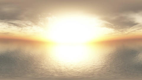 4 K Dramatic Sunset Over Endless Ocean Panoramic T Stock Video Footage