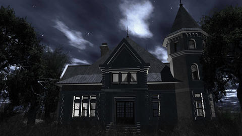 4 K Haunted Scary House 4 Animation