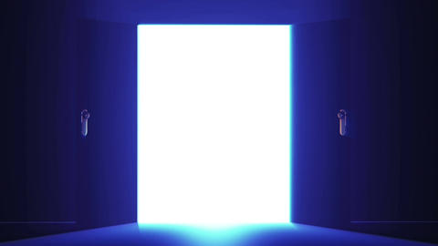 4 K Mysterious Door 4 Stock Video Footage