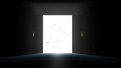 4 K Mysterious Door 6 magic dust Stock Video Footage