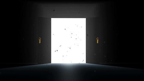 4 K Mysterious Door 6 magic dust Animation