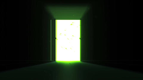 4 K Mysterious Door 8 magic dust Stock Video Footage