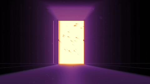 4 K Mysterious Door 10 magic dust Stock Video Footage