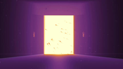 4 K Mysterious Door 10 magic dust Stock Video Footage