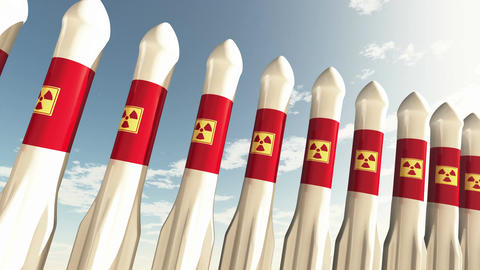 4 K Nuclear Rockets 2 Stock Video Footage