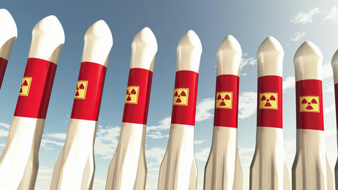 4 K Nuclear Rockets 2 Animation