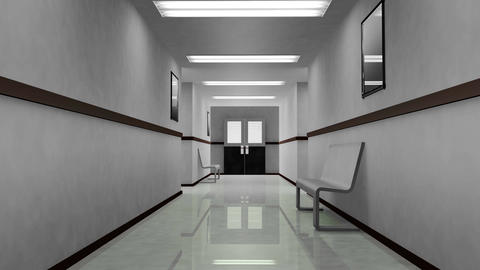 4 K Scary Hospital Corridor 1 Stock Video Footage