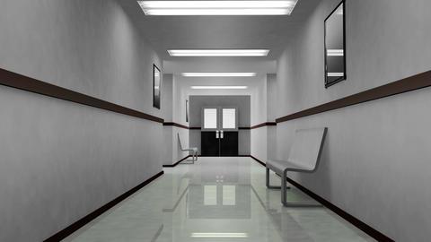 4 K Scary Hospital Corridor 1 Stock Video Footage