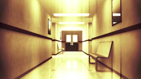 4 K Scary Hospital Corridor 3 Stock Video Footage