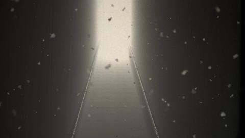 4 K Scary Stairs 12 Yurei vintage Animation