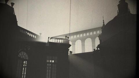4 K Sunset in Rome 2 vintage Animation