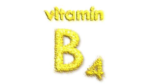 B4 Vitamin Stock Video Footage