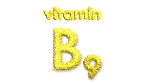 B9 Vitamin Stock Video Footage